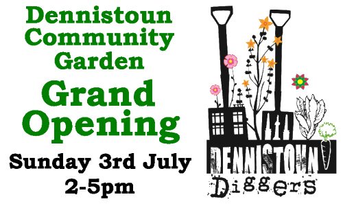 Dennistoun Community Garden Grand Opening - Sunday 3rd July 2011