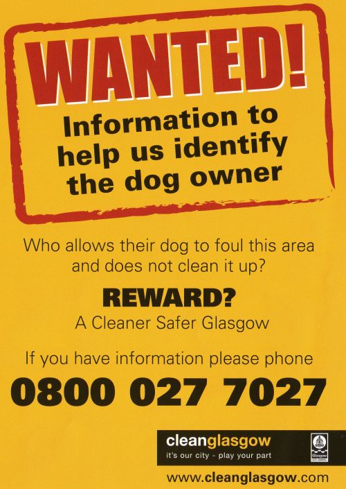 Report Dog Fouling: Phone 0800 027 7027