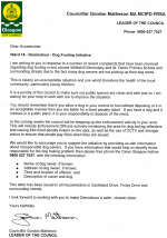 Dennistoun Dog Fouling Initiative Letter