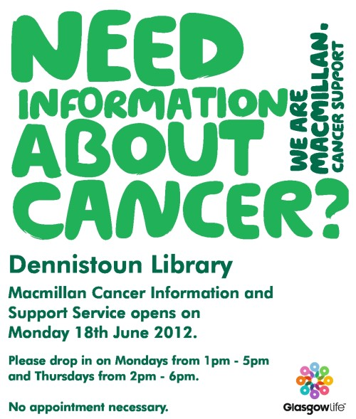 Macmillan Cancer Information and Support Service at Dennistoun Library