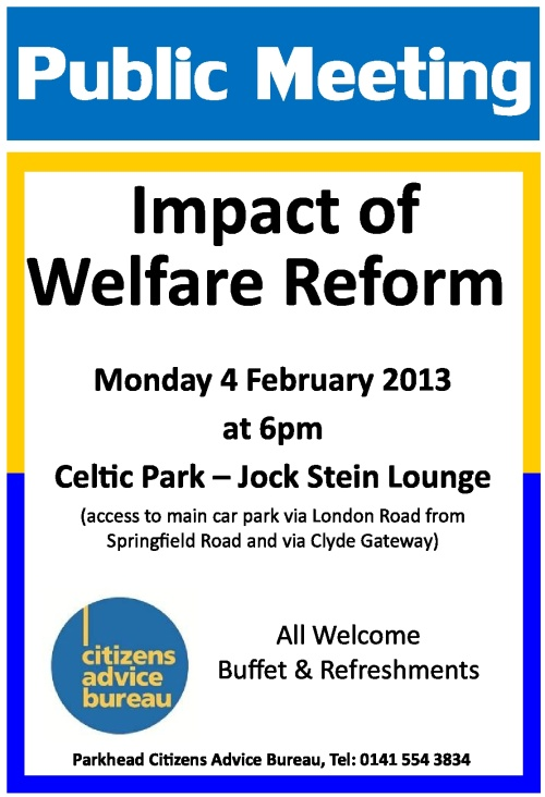 CAB Welfare Changes Meeting