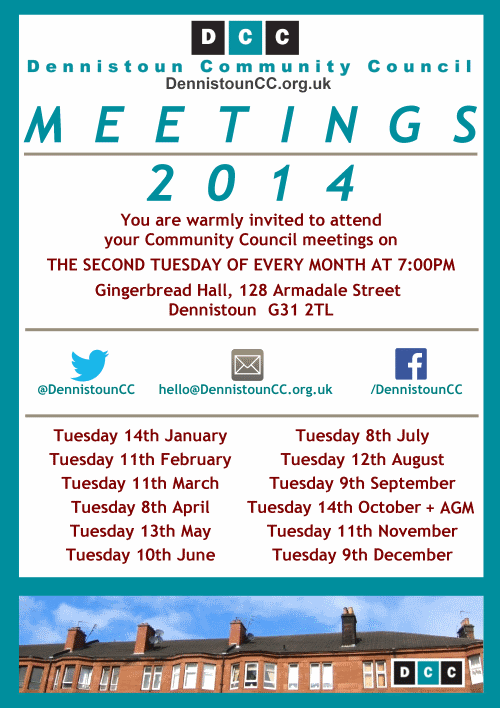 Dennistoun Community Council 2014 Meetings