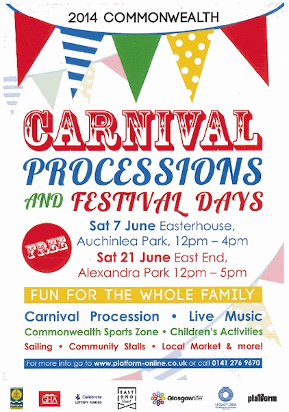 Alexandra Park Carnival Procession and Festival Poster