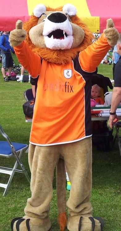 Alexandra Park Festival 2014 Lion Mascot 01