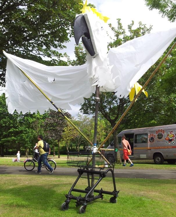 Alexandra Park Festival 2014 Shopping Trolley Bird 01