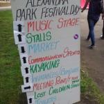Alexandra Park Festival 2014 Sign 01