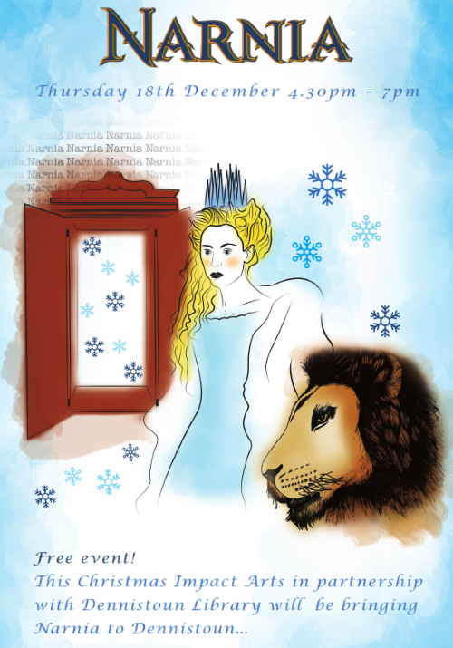 Narnia at Dennistoun Library - Impact Arts Flyer