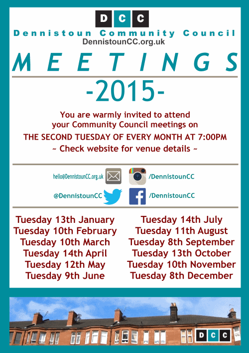 Dennistoun Community Council 2015 Meetings