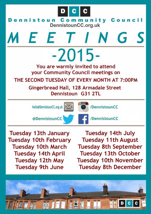Dennistoun Community Council 2015 Meetings