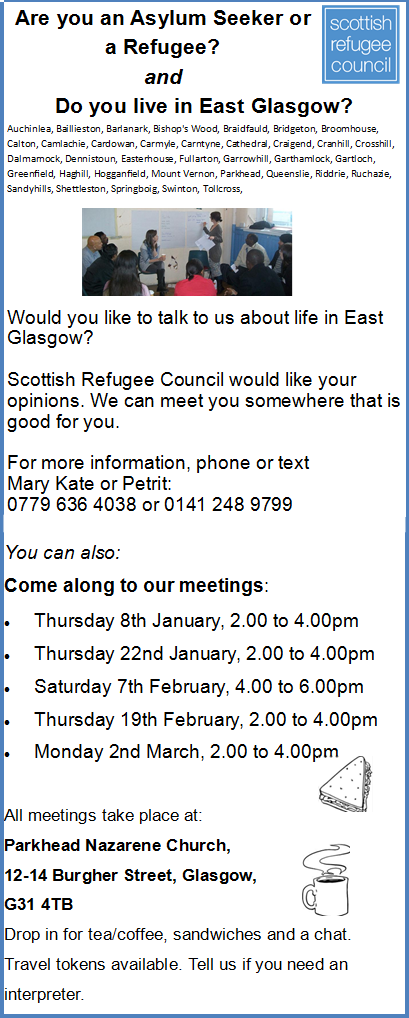 Scottish Refugee Council Meetings