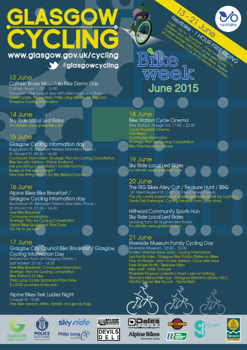 Glasgow Bike Week 2015 Poster