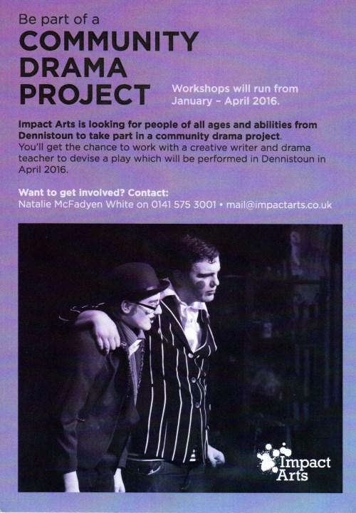 Community Drama Project Flyer (Click for full size version)