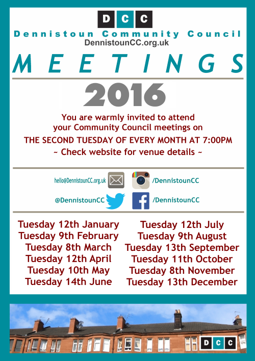 Dennistoun Community Council 2016 Meetings (click for PDF)