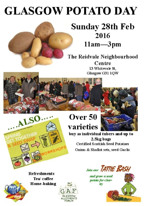 Glasgow Potato Day 2016 Poster