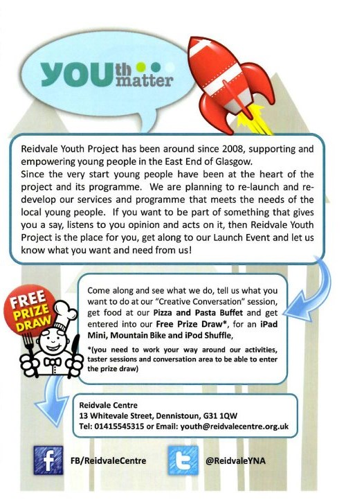 Reidvale Youth Hub Launch Info