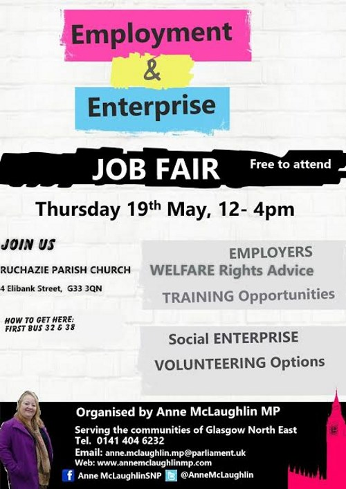 Employment and Enterprise Job Fair Flyer