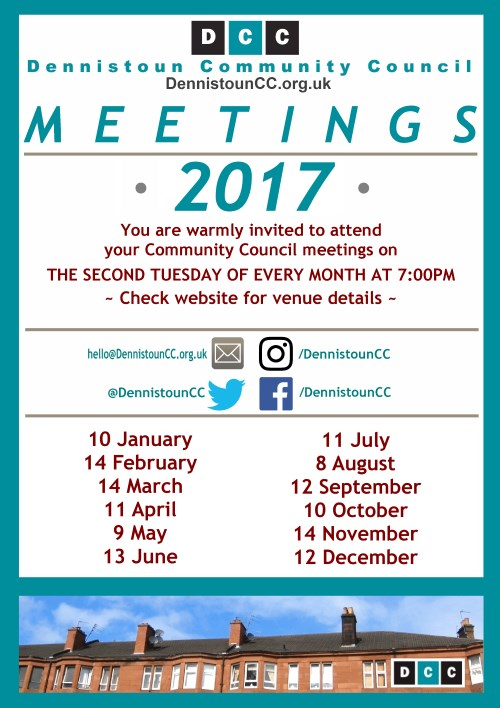 Dennistoun Community Council 2017 Meetings (click for PDF)