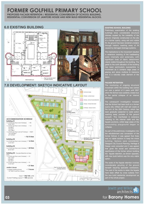 Former Golfhill Primary School Proposal - Facade Retention