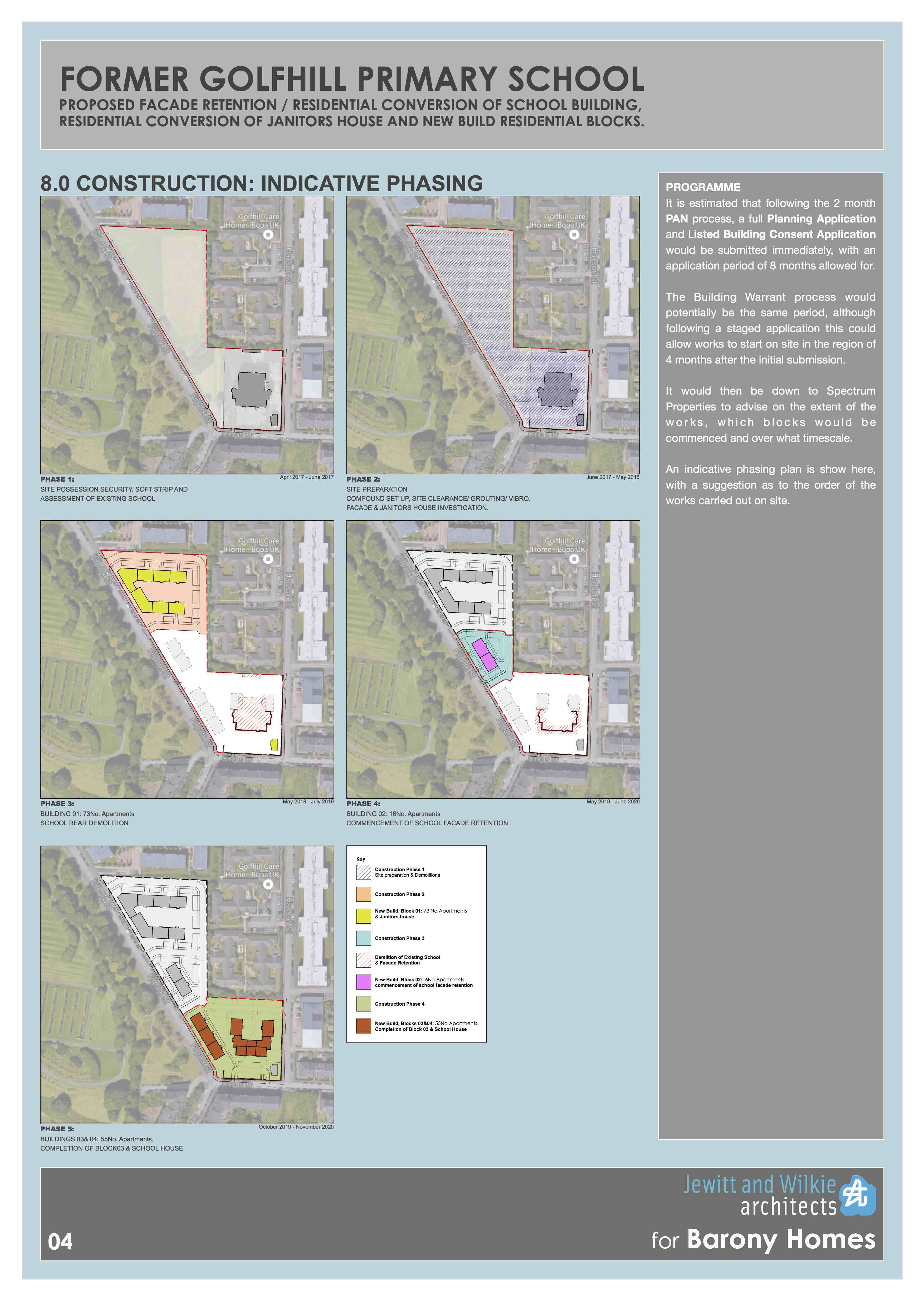 Former golfhill primary school proposal indicative phasing