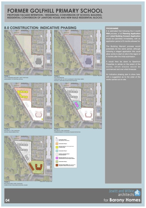 Former Golfhill Primary School Proposal - Indicative Phasing