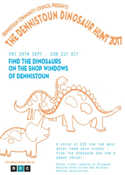 Dennistoun Dinosaur Hunt 2017 Poster