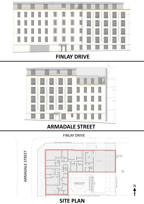 100 Finlay Drive - Proposed Elevations to Finlay Drive and Armadale Street and Site Plan