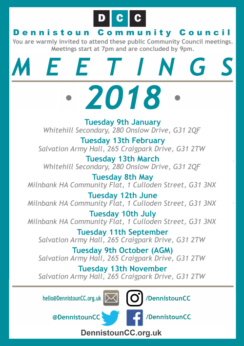 Dennistoun Community Council 2018 Meetings (click for PDF)