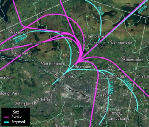 Glasgow Airport Existing and Proposed Flight Paths