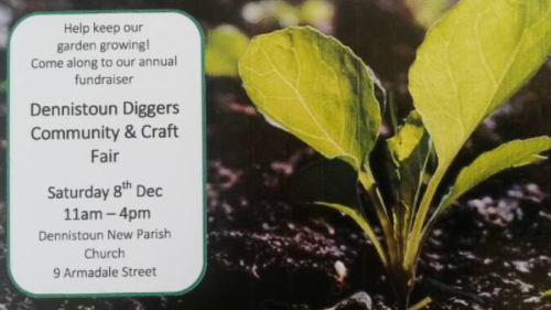 Dennistoun Diggers Craft Fair 2018