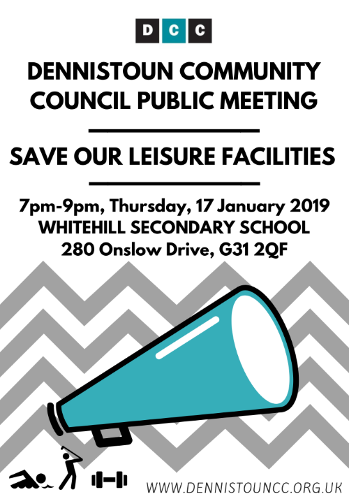 Dennistoun Community Council Public Meeting - Save Our Leisure Facilities (click image for PDF)