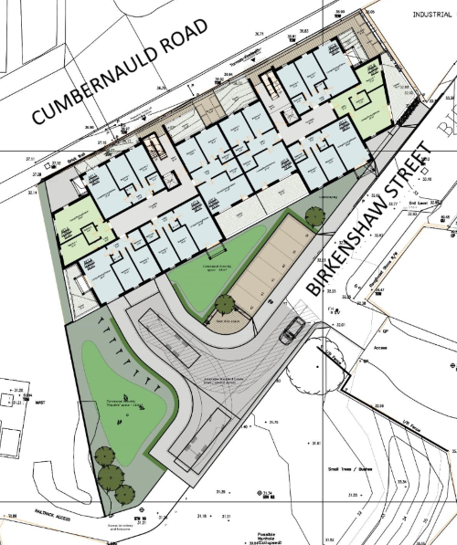 Birkenshaw Street Development - Proposed Site Plan