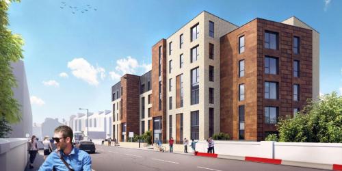 Birkenshaw Street Development - Visualisation from Cumbernauld Road looking East