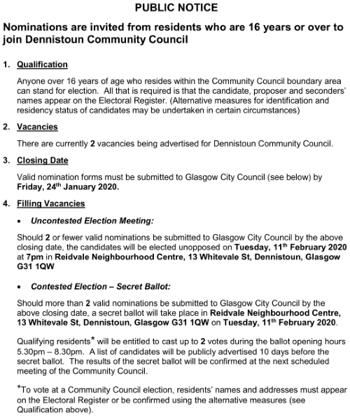 DCC Election 2020 Public Notice