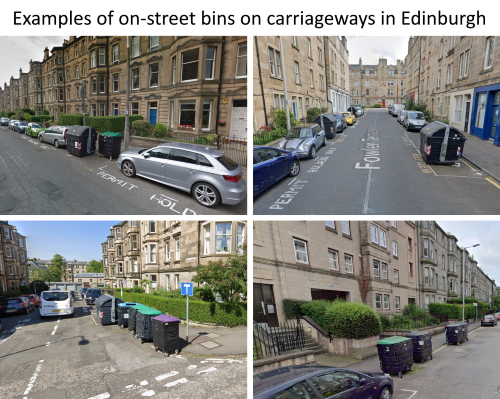 Edinburgh Carriageway On-street Bins