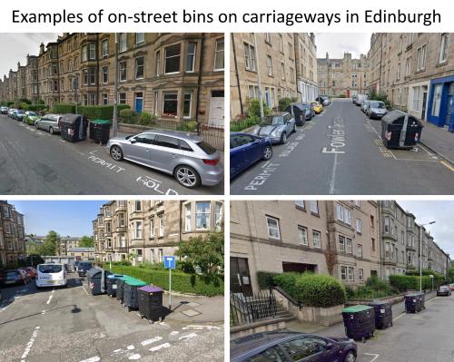 Edinburgh Carriageway On-street Bins