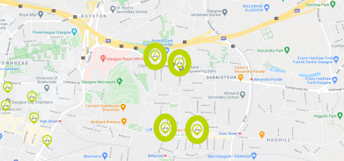 Co-wheeels Locations in Dennistoun