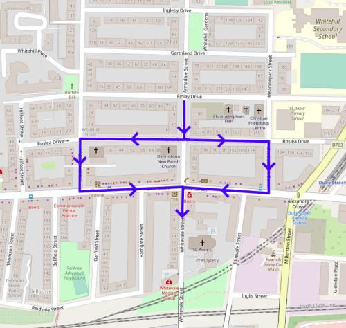 Armadale Street to Whitevale Street