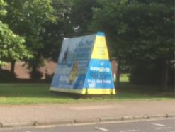 Duke Street advertising trailer at Wellpark